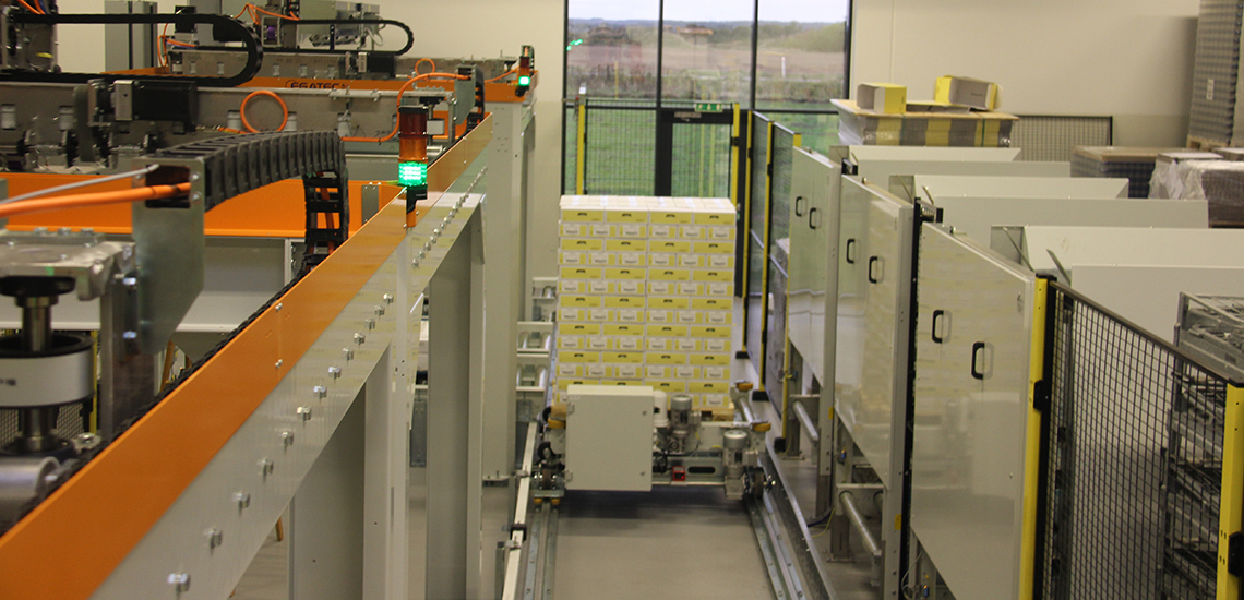 Palletering hos Jakobsens Honey - Egatec Packaging Int.